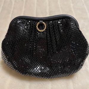 Whiting & Davis Vintage Black Mesh Bag